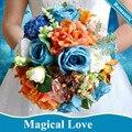 Флер букет Mariage Vintage Волшебный Свадебные Цветы Букеты Для Невест Синий Искусственный Пляж Свадебные Букеты Рамос Де Novia