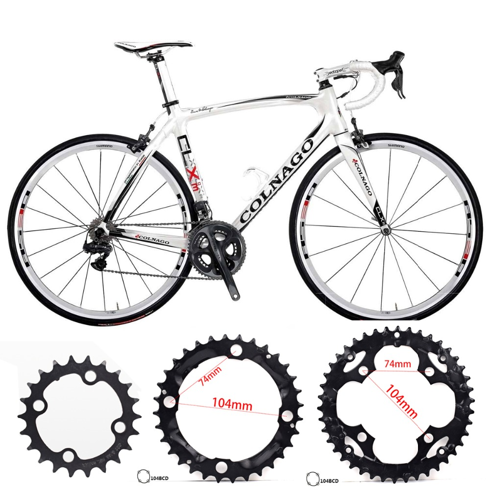 MTB Bicycle Round Shape Chainwheel 22T(64bcd) 32T/42T(104bcd) Chainring Bike Circle Bicycle parts Bicycle wheel component