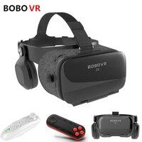 2018 BOBOVR Z5 120 FOV 3D Cardboard Helmet Virtual Reality Vr Box Glasses Android Cardboard Stereo Headset Box for 4.7 6.2 Phone