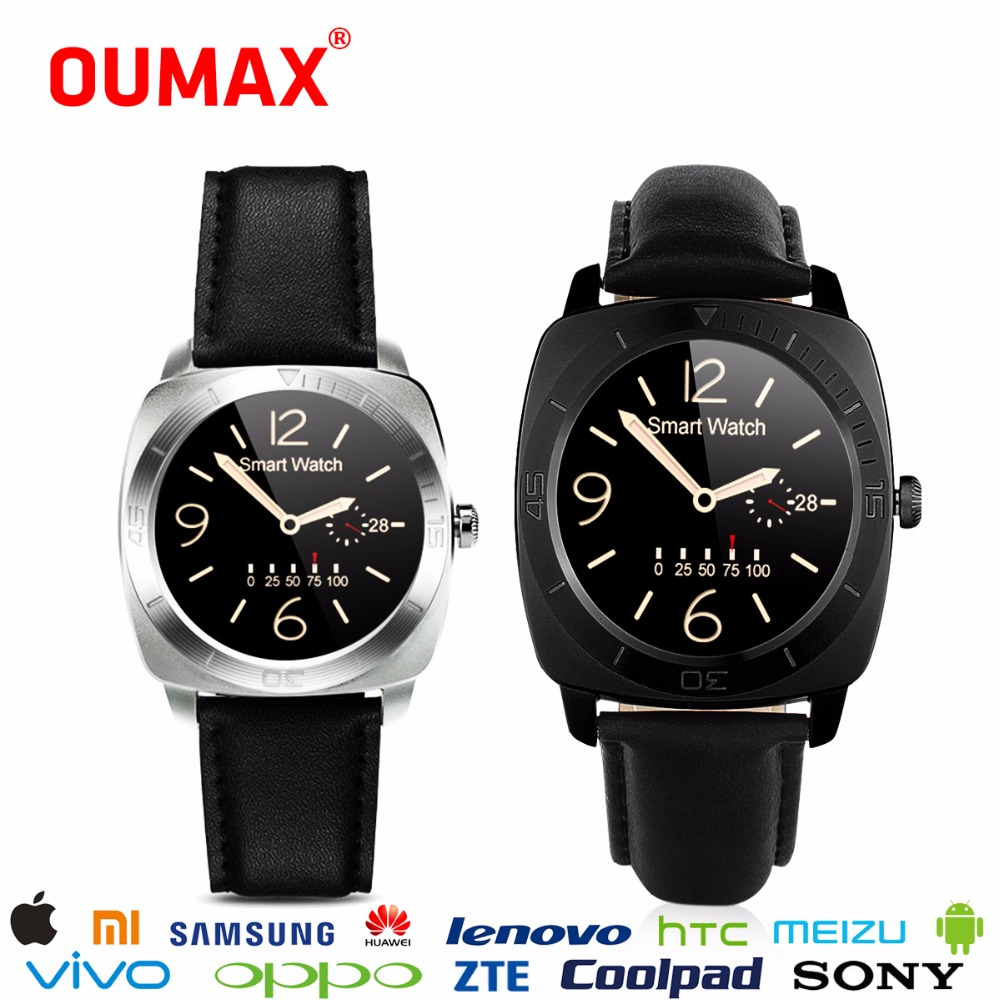OUMAX Men Bluetooth 4.0 Smart Watch Luxury Wearable Devices Smartwatch Support Heart Rate for Android 4.3 IOS 9.0 Phone S6Round f2 smart watch accurate heart rate statistics i bluetooth watch compatible android smart wearable ios system