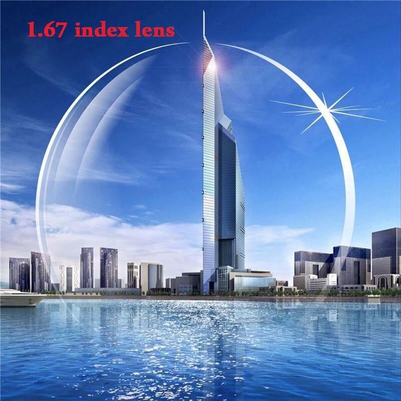 Vazrobe verres personnalisés lentilles 1.67 indice résine asphérique oléophobe Anti rayonnement bleu ordinateur UV éblouissement