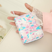 New Women Laser Holographic Wallets Short Cute Purse Small Wallet Women Folding Wallet Card Holder Coin Purse