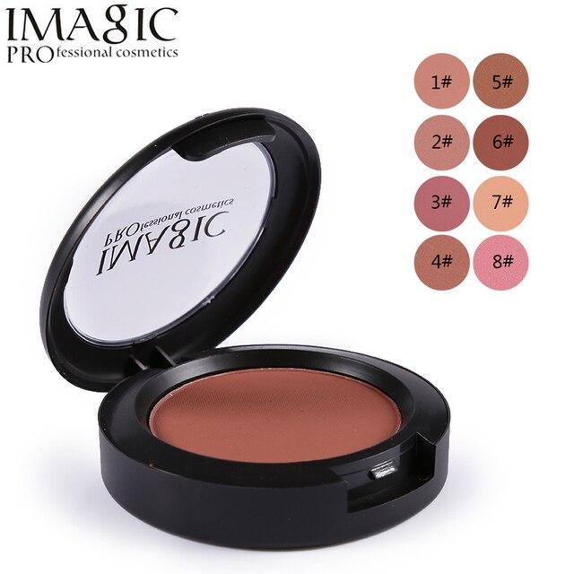 IMAGIC For Women Beauty Face Blush Makeup Baked Cheek Color Bronzer Blusher Palette Colorete Sleek Cosmetic Shadows 1PC
