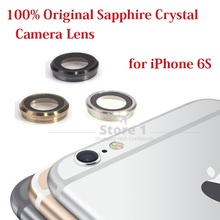 100% Original for Apple iPhone 6S Camera Lens; Sapphire Crystal Back Camera Glass Lens with Frame for iPhone 6S 4.7 inch