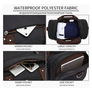 Image 3 - MARKROYAL Weiche Wasserdicht Männer Reisetaschen Tragen Auf Große Kapazität Duffle Wasser abweisend Taschen Hand Gepäck Wochenende Tasche Für frauen