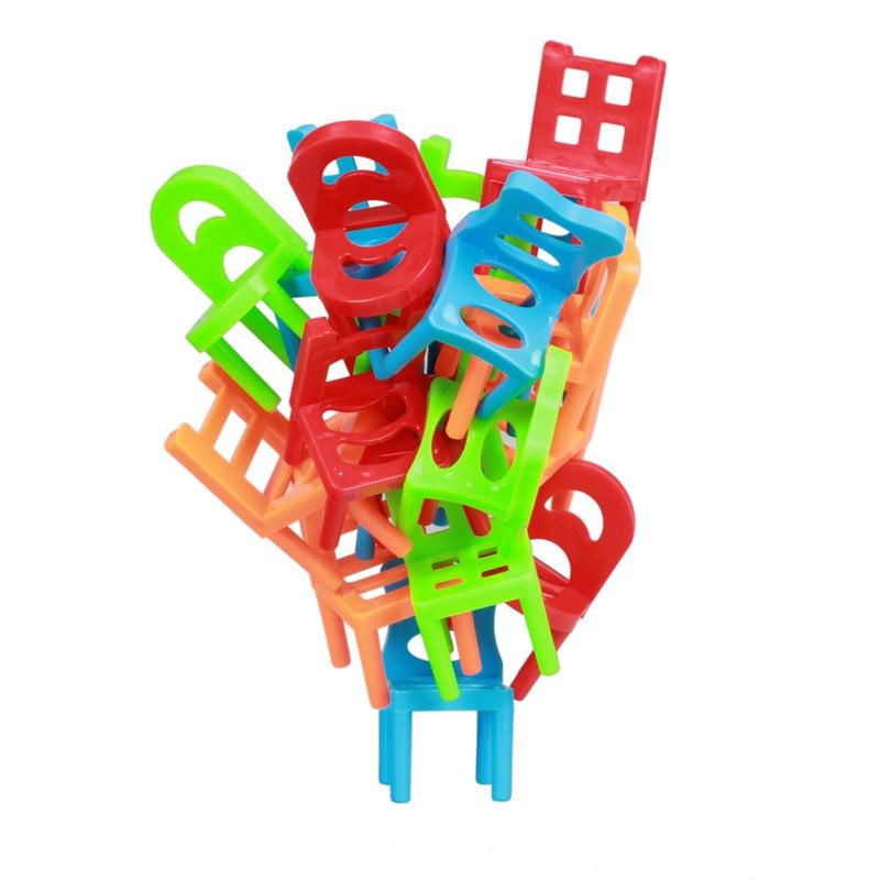 18 Stücke Balance Stühle Bord Spiel Kinder Kinder Pädagogisches Balance Spielzeug Puzzle Bord Spiel Umwelt-freundliche Abs Kunststoff Gut FüR Antipyretika Und Hals-Schnuller