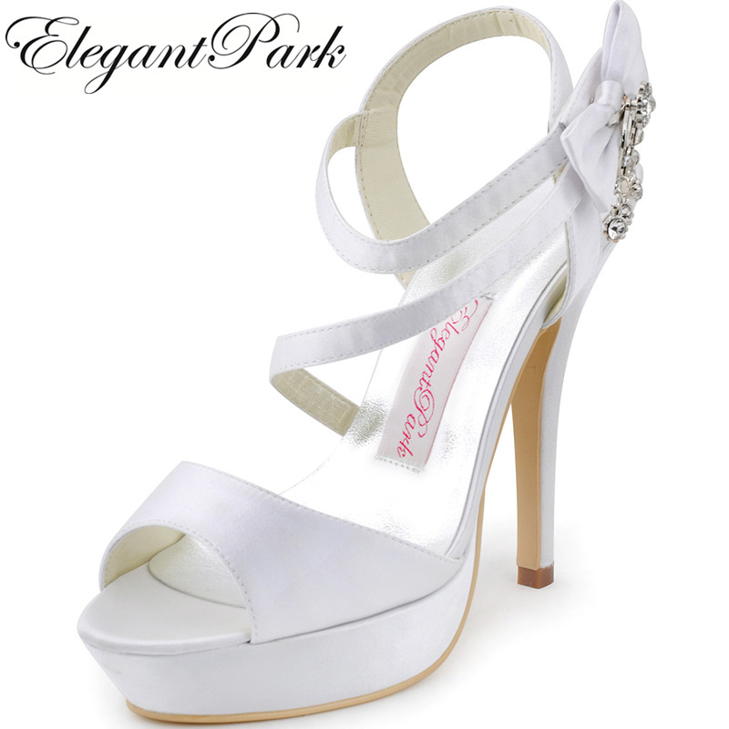 Shoes Woman Sandals Summer SP1407P White Silver High Heel Shoes Lady Women Wedding Bridal Shoes prom party pumps Ivory Blue fashion white lady peep toe shoes for wedding graduation party prom shoes elegant high heel lace flower bridal wedding shoes
