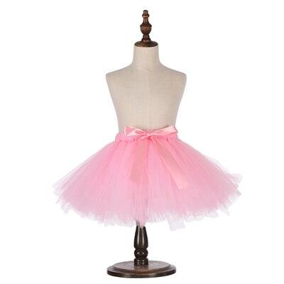 Милые пышные мягкие фатиновые юбки-пачки для малышей; юбка-американка для дня рождения для новорожденных; юбки-пачки для девочек; детские юбки-пачки; одежда для малышей - Цвет: Розовый