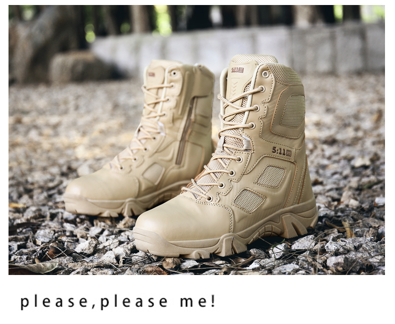 Brand Men\'s Boots Big Size Military boot Chukka Ankle Bot Tactical Army Male Shoes Safety Combat Mens Motocycle Boots (12)