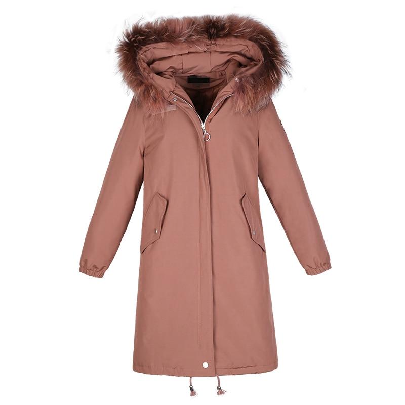 Fourrure Taille Gray Vestes Mode Col Green Plus La Longue light pink De Manteau Chaud Hoodies Outwear Dame yellow Lcy1083 Parka Femmes D'hiver Femme Parkas Coton pqwA6zxRp