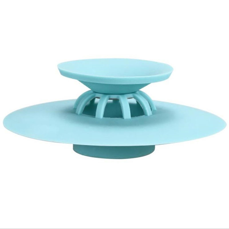 Rubber Circle Silicone Sink Strainer Filter For Kitchen Bathroom Shower Drain Drains Cover Colander Sewer Filter Hair