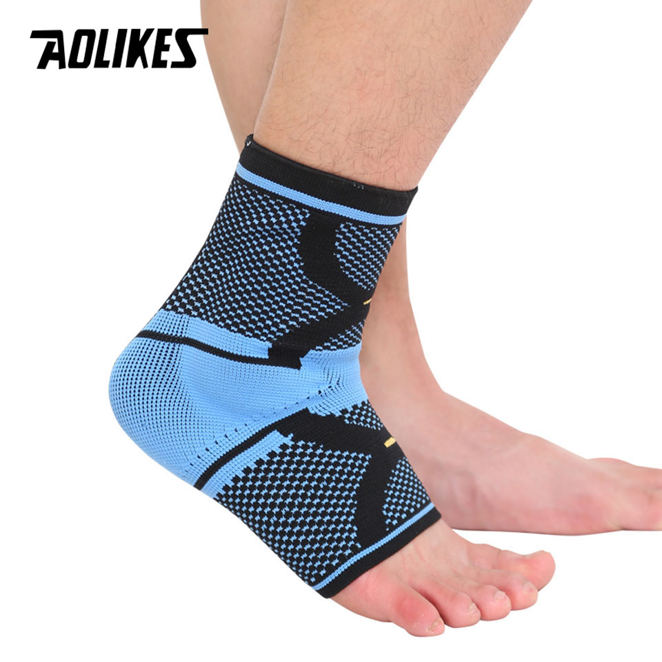 AOLIKES 1PCS Sports Ankle Support Ankle Pads Elastic Brace Guard Foot Basketball Football Badminton Anti Sprained Ankles Protect