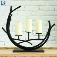 Metal Candle Holders Wedding Table Centerpiece Event Road Lead Candle Stands Home Decoration Candlestick Candelabra Romantic