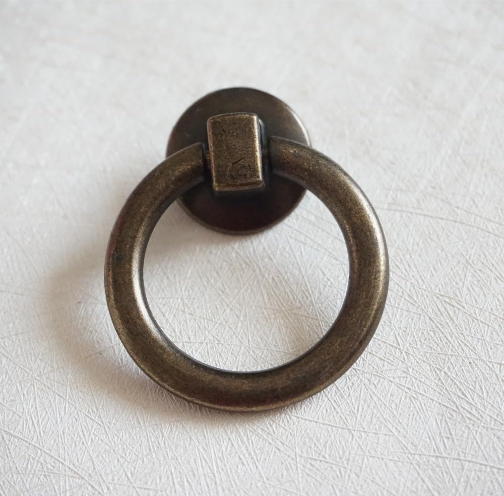 Vintage Style Drop Drawer Knobs Pulls Antique Bronze