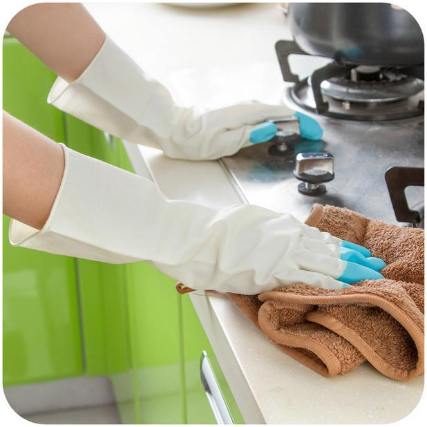 Waterproof Rubber font b Gloves b font for font b Household b font Cleaning Laundry Washing
