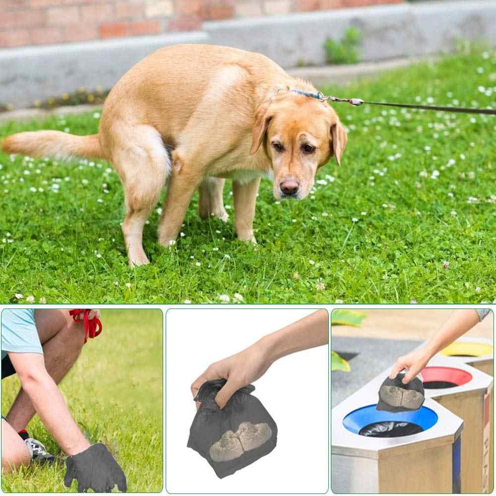 50 rolos = 750 pcs Dog Poop Bag Clean up Recarga Rolls Dispenser Pet Saco de Lixo Sacos De Lixo Titular Transportadora dispensador de Acessórios Para Animais de Estimação