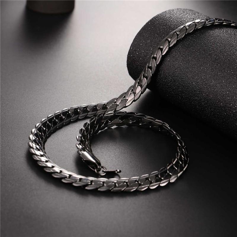 Collar de U7 Gargantilla / Largo 9 MM / 6 MM Vintage Punk Negro / - Bisutería - foto 4