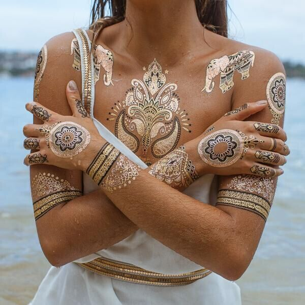 2015 New Design Fashion Temporary Tattoo Stickers Temporary Body Art ...