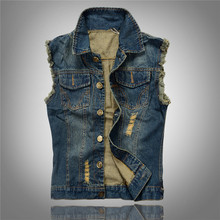 Multi Pocket Denim Vests Men Motorcycle Biker Jeans Vest Male Cowboy Sleeveless Jean Jacket Chaleco Hombre Plus Size 4XL 5XL 6XL