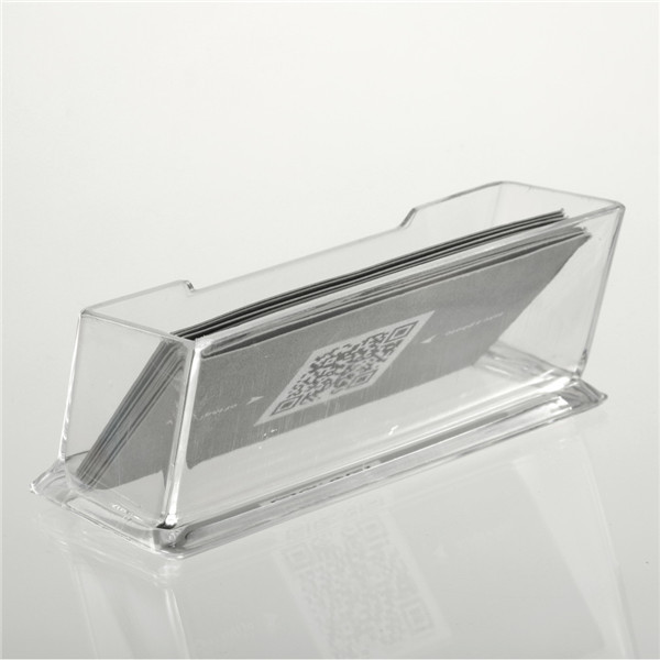 Klar PMMA Visitenkartenhalter Display Stand Schreibtisch Desktop Countertop