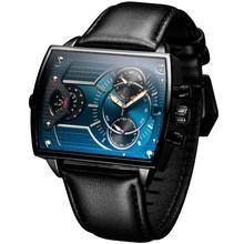 6,11 для мужчин s Новая мода Натуральная кожа Ремешок два часовых пояса цвета стекло кварцевые часы для мужчин водонепроницаемые спортивные часы relogio masculino