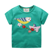 Baby Girl Summer Clothes Tops Flower Birds Tees Shirts Outfits Cute Infant T Shirts Lovely Children Clothing Kids Summer Clothes silly monkey baby girls clothes 2016 brand new children t shirts long sleeve cute bebe clothing girl tees blouses kids tops