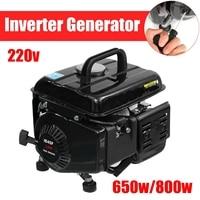 Portable 220V Generator Gas Gasoline Powered Electric Camping RV Quiet Inverter 650W 800W Peak