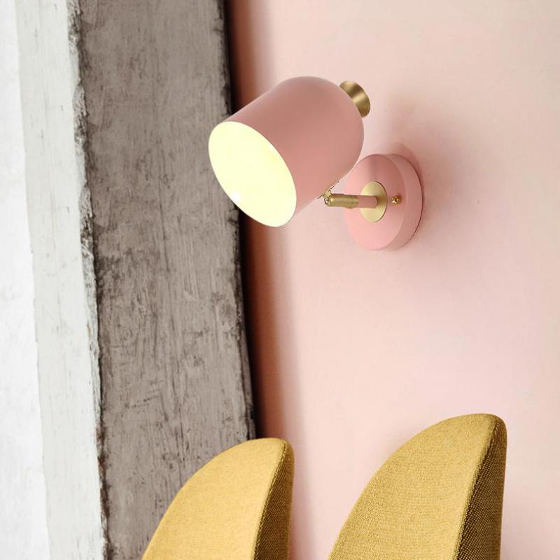 Bar Bedside cylinder wall lamp Loft industrial wall lighting Living Room Bedroom pink wall Sconces Lighting Study Aisle ArandelaBar Bedside cylinder wall lamp Loft industrial wall lighting Living Room Bedroom pink wall Sconces Lighting Study Aisle Arandela