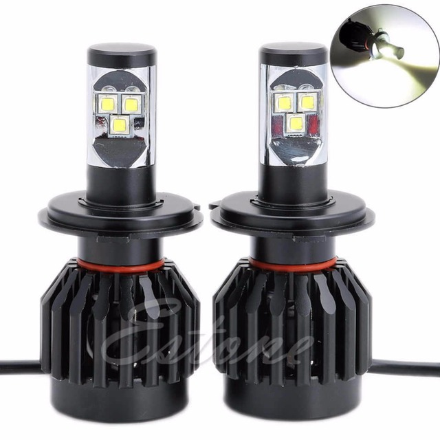 For 2x 80W 9000LM H4 Car LED Headlight Kit Driving Lamp H/L Bulb All In One