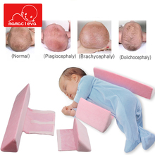 Newborn Stereotypes Pillow Baby Positioner Wedge Side Sleeping Pillows Cotton Toddler Memory Foam Nursing Cushion Pad