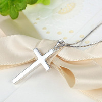 silver plated cross women classic choker necklace fashion jewelry necklace