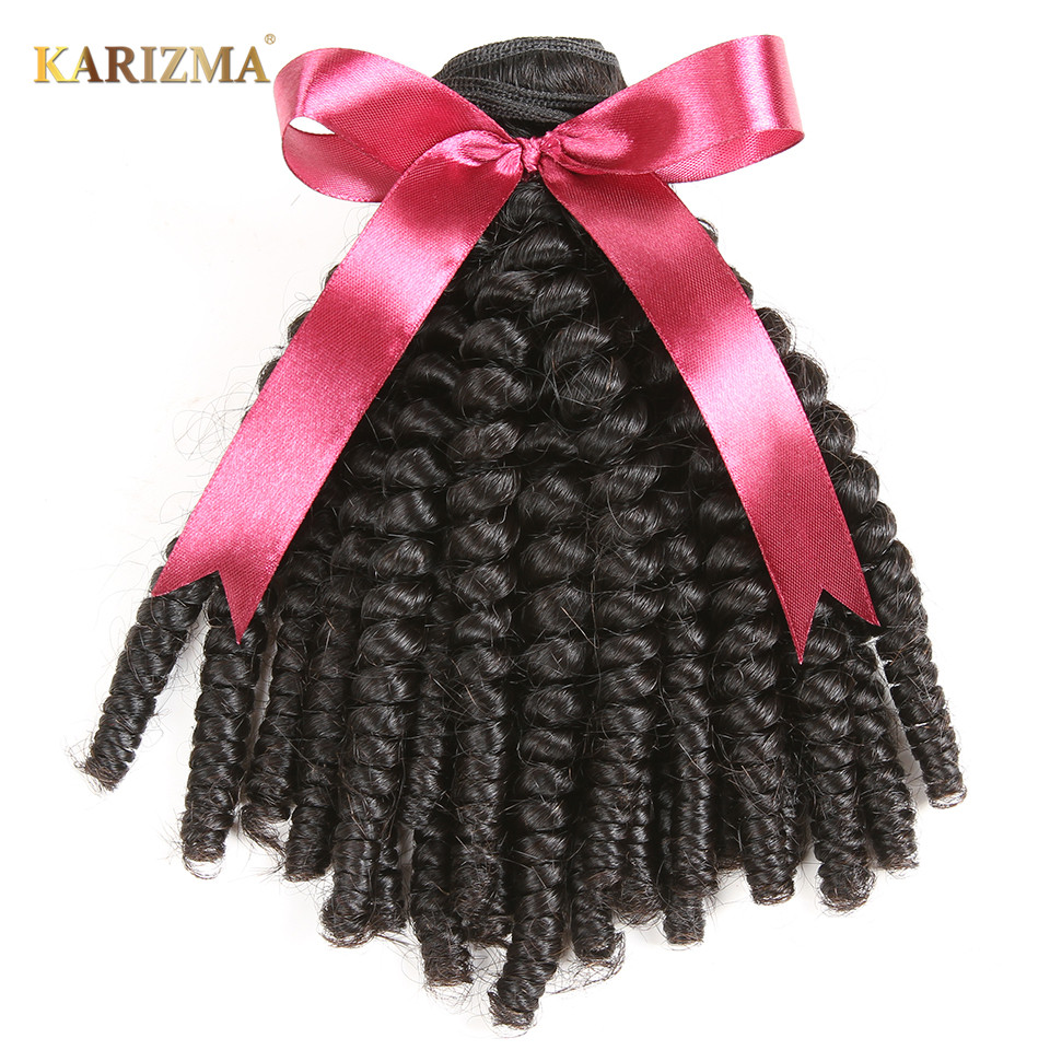 Karizma Brazilian Kinky Curly font b Hair b font Bundles Natural Color font b Hair b