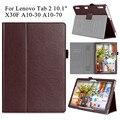 """PU Кожаный Чехол Case для Lenovo Tab 2 X30F A10-70 10.1 """"Tablet Flip Стенд Крышка Shell для Lenovo Tab 2 A10-30 с Ручной Держатель"""
