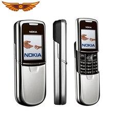 Nokia 8800 мобильный телефон английский/русский клавиатура GSM FM радио Bluetooth Восстановленный мобильный телефон золотой серебряный черный