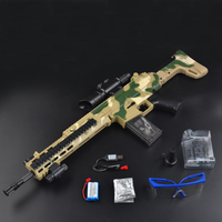 Scar Gun Toys Electric Plastic Orbeez Camouflage Outdoors Water Bullet Submachine Weapon Toy for Kid Gift PUBG Cospaly Guns
