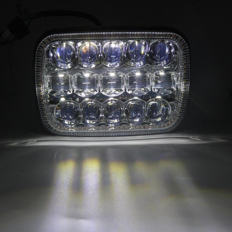 """5 """"× 7"""" 6 × 7 インチ正方形 Led ライトブラック長方形ジープラングラー用 XJ MJ トラック 4 × 4 矢印 DRL オフロードヘッドライト  グループ上の 自動車 &バイク からの カーライトの組み立て の中 3"""