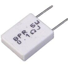 10 шт. 0.1ohm неиндуктивный цемента резистор 5 Вт 0.1R сопротивление для DIY Компоненты