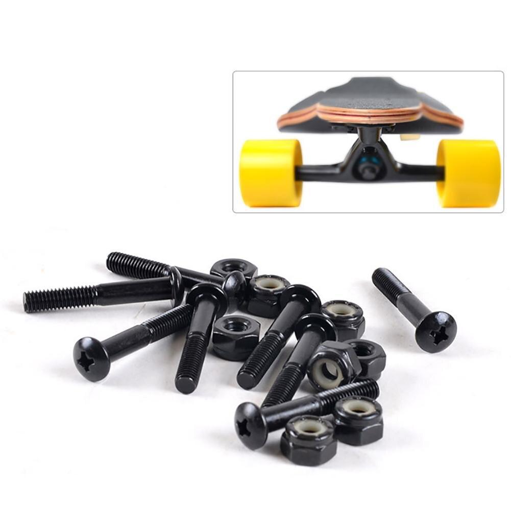 Skateboard Multi-size 25-33mm Black Hard Ware Bolts Skateboard Parts Double Rocker Screws For Four-Wheeled Skateboard Longbord
