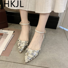 HKJL Summer 2019 new fashion stiletto high heel sandals patchwork belt cover head rubber soles for women A254