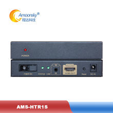 AMS-HTR1S HDMI Video Fiber Transceiver SC Port 20KM Single-mode Decode Audio Sync Output for led screen panel video wall(China)