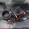 """40 Row AN10 motor enfriador de aceite + 5 M línea de aceite accesorios + 7 """" Kit de ventilador eléctrico"""