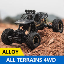 1/16 Schaal 2.4G Legering Rock Crawler RC Auto 4WD Afstandsbediening Off Road Voertuig Alle Terrians Klimmen RC Buggy auto RTR(China)