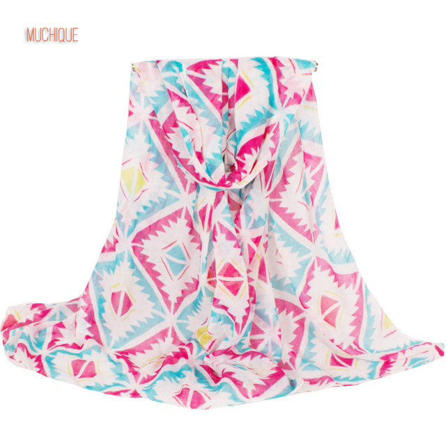 Muchique Chevron Chic Wave Printed Geo Scarf Women Fashion Oversized Scarves Infinity Big Wraps Beach Shawl