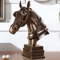 Качество абстрактные голова лошади Скульптура ручной polyresin битва Зарядное устройство статуя орнамент Craft для Бизнес подарок и офиса Декор