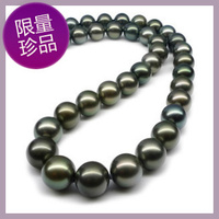 925 real natural big Natural seawater pearl necklace Tahiti Black Pearl Necklace 10 11mm smooth very bright light to the