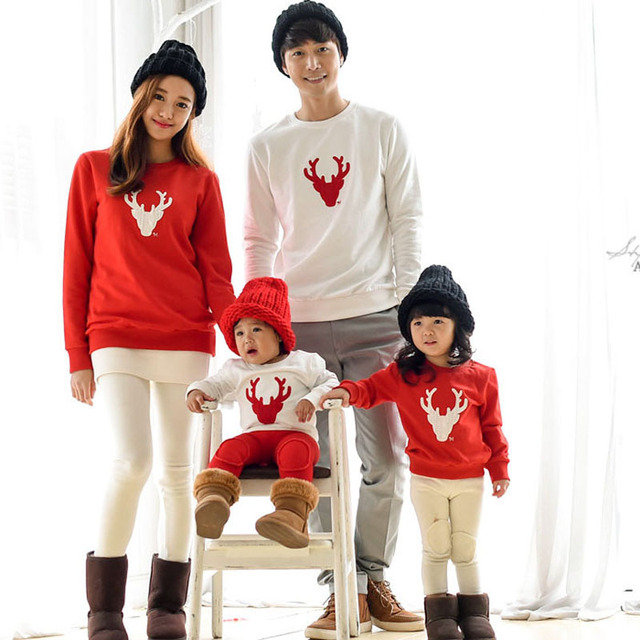 Automne Famille Pyjamas De Noel Bebe Fille Garcon Vetements Cerf cd942440676