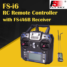 Flysky FS-i6 FS i6 2.4G 6CH Transmitter Remote Controller With FS-iA6b Receiver For RC Quadcopter drone Helicopter Airplane