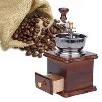 Antyczne Ręcznie Młynek Do Kawy Drewna Stojak Metalowy Miska Młyn Muller Picia Kawy Fasoli Kawy Zestaw Herbaty Cafe Bar Akcesoria