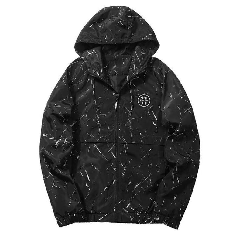 POMOUCCI Men Jacket Casual 2018 Spring Men Jackets Casual Mens Coat Mens Hooded Camouflage Zipper Coats Free Shipping