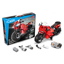 484pcs Technic Series Racing RC Motorcycle Building Blocks Set Remote Control Motorbike Model Educational Brick Toy For Children lepin 23003 3643pcs technic moc rc jeep wild off road vehicles set educational building blocks brick toy for children model gift